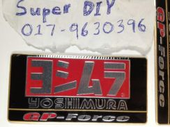 Yoshimura GPforce motor exhaust aluminium sticker