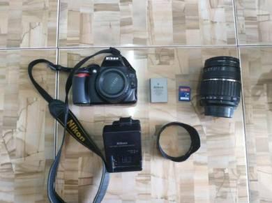 Kamera DSLR D3100 Nikon Full set