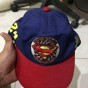Superman racing cap