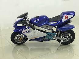 Kids 49cc sport pocketbike blue