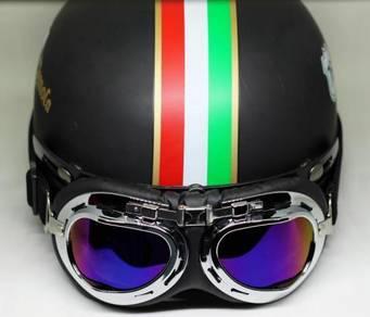Helmet (Matte Black Italy Flag) - Free Shipping
