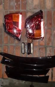 WAJA lampu brek,visor,skirting,side marker