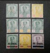 1896 1903 Johore Straits Settlements With Surcharg