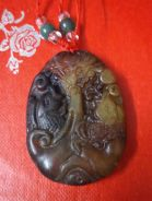 ABPJ-F012 Old Jade Fish Dragon Zodiac Pendant Neck
