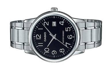 Casio Men Analog Steel Date Watch MTP-V002D-1BUDF