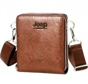 Jeep Men's Genuine Leather Sling Bag