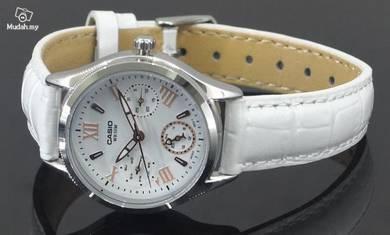 Casio White Leather LTPE301L-7A - ORIGINAL
