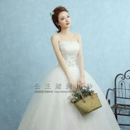 2 Pcs Wedding Gowns M to L Size (White & Red)
