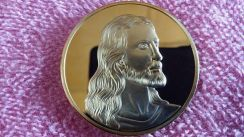 Jesus christ the last supper 24 kt gold medallion
