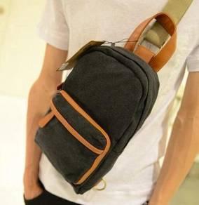 (5566) Stylish Backpack Casual Man Bag (Black)