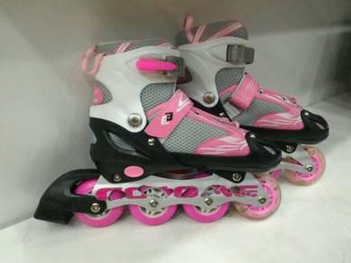 Pink Rollerblade light kasut roda Adjustable jb][