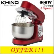 Khind Stand Mixer 600W 5 Speed SM350P (Red)New