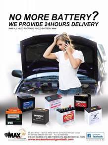 Car battery delivery service installation