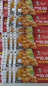 KFC cash voucher RM10