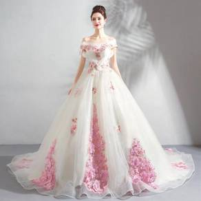 White wedding bridal dress gown RBP0820