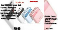YOOBAO 10000mAh LED POWER BANK ORIGINAL M4PRO