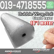 Single Layer Bubble Wrap Roll 10meter X 1meter