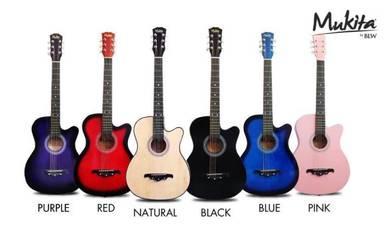 Gitar Akustik (Natural) - Mukita By BLW-Free Bag