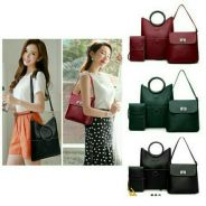 ( 3 IN 1 ) Round Handbag / Sling Bag Set