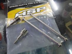 HSP 1.10 Upgrade Steel Dogbone Wheel Axle Set