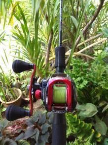 Reel abu garcia redmax + nemesis rod mesin pancing