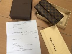 Authentic Louis Vuitton Sarah wallet damier ebene