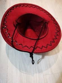 Maroon cowboy hat