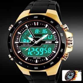 Best Skmei Quartz SiliconeArmy Waterproof 50M -073