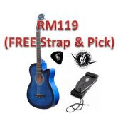 Gitar Akustik - Blue & Red