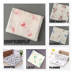 SC8 Infant Baby Cotton swaddle wrap blanket napkin
