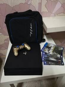 PS4 Pro + DS4 + Bag