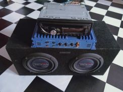 Radio, amplifier and sub woofer small