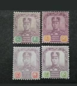 1910-18 Johore Straits WMK Multiple Lotus Flower-4