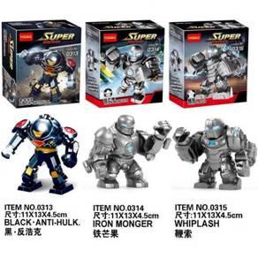 Decool 0313 0314 0315 Iron Man mk1 Super Heros