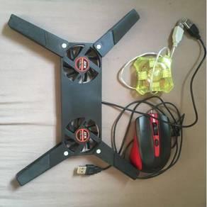 Mouse, Laptop fan, usb hub