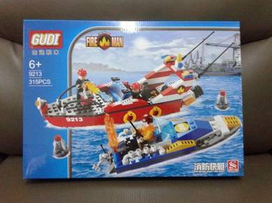Brick Fire Boat 9213 Gudi