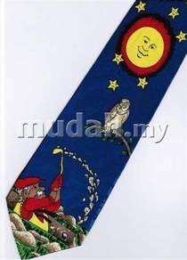 Fishing Owl Bird Sun Cartoon Novelty Neck Tie