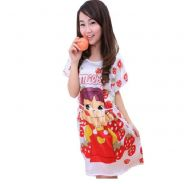 Strawberry Girl Cotton Pajamas Baju Tidur