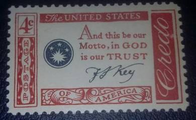 US Postage American Credo (F.Scott Key) 1960 4c