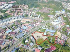 3.194 Acres Roadside Commercial Residential Land,Penampang