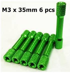 M3X35mm Standoffs Knurled Round (Green) XJ023G