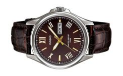 Casio Men Day Date Leather Watch MTP-1377L-5AVDF