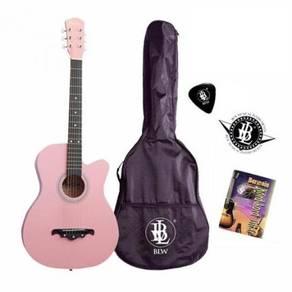 Guitar -Free Bag,Pick, Chord Book & Sticker - Pink