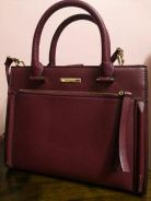 Red wine color lady bag