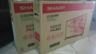 Sharp 32 hd led tv (USB, baru, 2 tahun waranti)