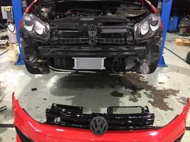 Vw audi install performance oil cooler set