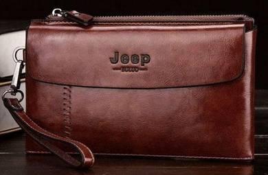 Jeep Genuine Leather Men's Wallet Clutch Bag