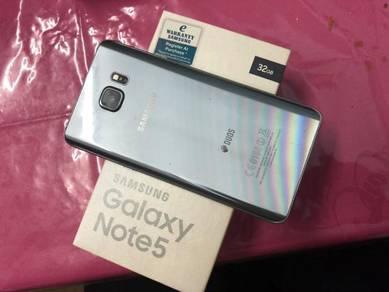 Samsung Note 5 tatinium Silver SME Good Condition