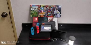 Nintendo Switch Neon Fullset with 4 Games Fifa 18