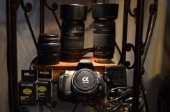 SONY A230 with lenses